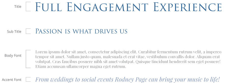 Full Engagement Experience typography