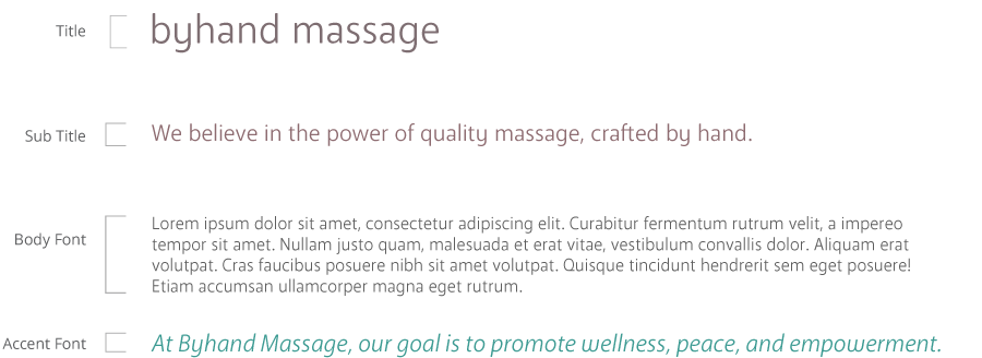 byhand massage typography