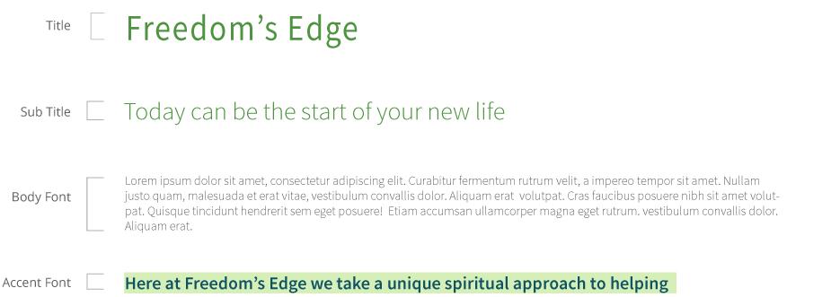 Freedom's Edge typography